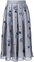 Holly Fulton flower embellished pleated skirt - women - Silk - 10