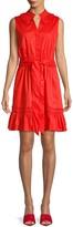 ABS by Allen Schwartz Pleated Collar Button-Front Dress