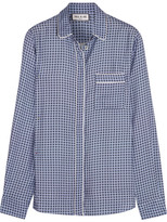 Paul & Joe Satin-trimmed Printed Crepe Shirt - Blue