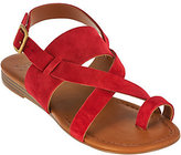 Franco Sarto As Is Suede Multi-strap Sandals w/ Toe Band - Gia