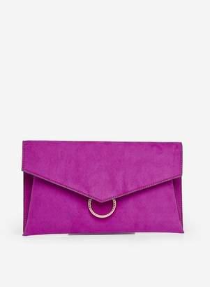 Dorothy Perkins Womens Fuchsia Ring Detail Clutch Bag