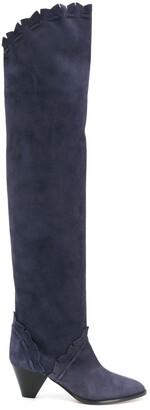 Isabel Marant Over-The-Knee Low-Heel Boots
