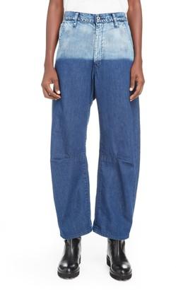 Y's by Yohji Yamamoto U-Gusset Wide Leg Jeans