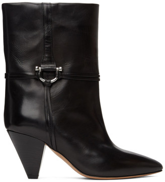 Isabel Marant Black Leather Lilet Ankle Boots