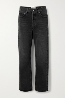 AGOLDE '90s Distressed Mid-rise Straight-leg Jeans - Black