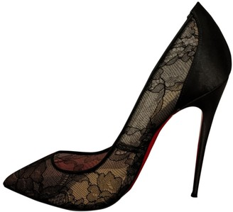 Christian Louboutin So Kate Black Cloth Heels
