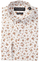 Nick Graham Long Sleeve Modern Fit Small Floral Dress Shirt