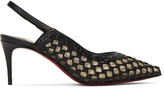 Christian Louboutin Black Cage and Sling 70 Heels