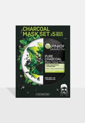 Missguided Garnier Charcoal And Algae Purifying And Hydrating Face Sheet Mask 5 Pack