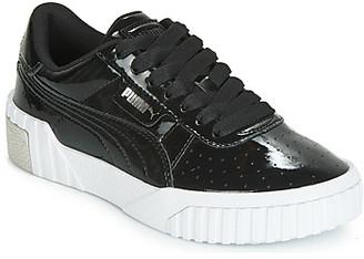 Puma CALI PATENT JUNIOR girls's Shoes (Trainers) in Black