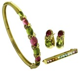 Tiffany & Co. 18K Yellow Gold Diamond Bracelet Earrings Brooch Set