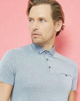 Ted Baker Geo print collar polo shirt