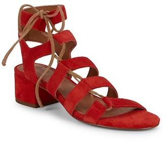 Frye Chrissy Side Ghillie Suede Sandals