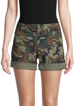 Sanctuary Camouflage Stretch-Cotton Shorts