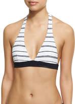 Heidi Klein Nassau Halter Padded Swim Top, White