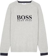 BOSS Velvet logo cotton jumper 4-16 years