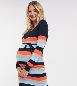 Mama Licious Mamalicious jumper dress in stripe