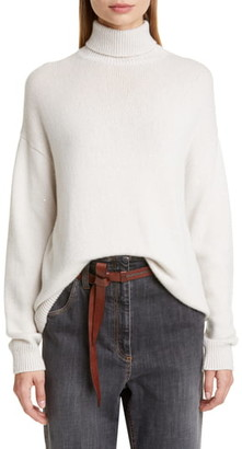 Brunello Cucinelli Sequin Cashmere & Silk Turtleneck Sweater