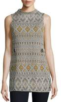 Romeo & Juliet Couture Geometric Patterned Top