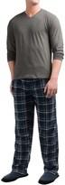 Majestic Cotton-Fleece Pajamas - Long Sleeve (For Men)