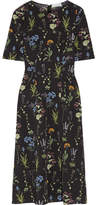 Altuzarra Sylvia Floral-print Silk-georgette Midi Dress - Black