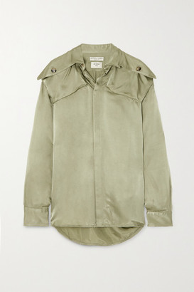 Bottega Veneta Satin-twill Shirt - Green