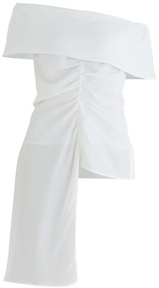 Paisie Mayfair Bardot Blouse In White