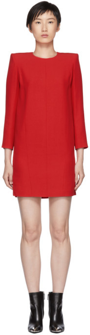 Givenchy Red Mini Shoulder Pads Dress