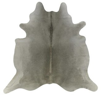 Saddlemans Cowhide Handmade Cowhide Gray/Tan Rug Rug Size: Novelty 6' x 6'