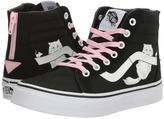 Vans Kids Sk8-Hi Zip Black/True White) Girls Shoes