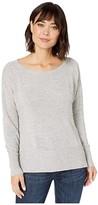 NYDJ Waffle Sweatshirt (Black) Women's Clothing