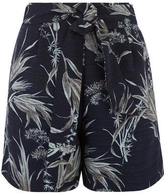 Warehouse Leaf Print High Waist Shorts