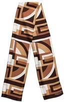 Adrienne Landau Geometric Silk Scarf