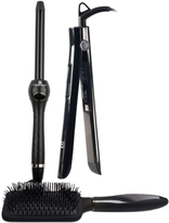 Black Four-Piece Perfection Clipless Curler & Flat Iron Set