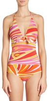 Emilio Pucci Lance Beach One-Piece Swimsuit