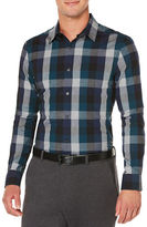Perry Ellis Classic-Fit Exploded Plaid Dress Shirt