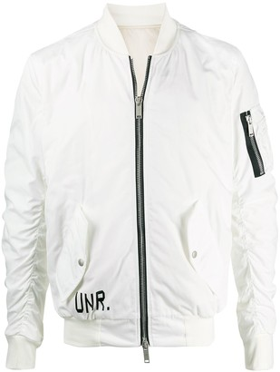 Unravel Project Logo-Print Bomber Jacket
