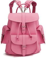 Grafea Pink Lemonade Medium Leather Rucksack Pink