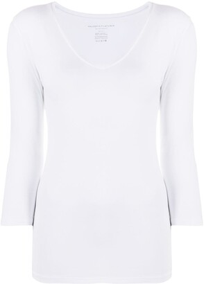 Majestic Filatures V-Neck Top