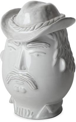 Jonathan Adler Utopia Porcelain Macho Macho Cowboy Canister