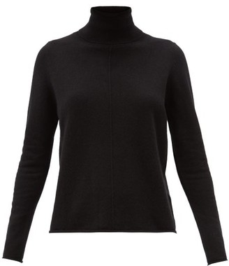 Allude Roll-neck Cashmere Sweater - Black