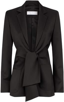 Max Mara Tie-Front Wool Blazer