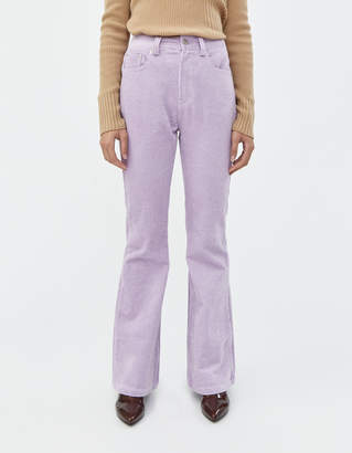 Neul High Waist Boot Cut Cord Pant In Lilac