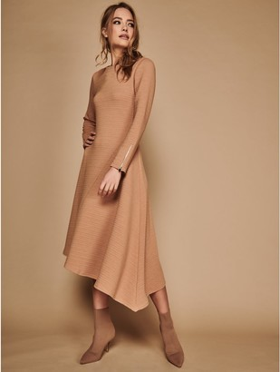 M&Co Sonder Studio ribbed asymmetric dress