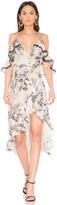 Nicholas Iris Floral Wrap Dress