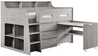 Julian Bowen NoahMidsleeperwith 3 Drawer Chest, Shelving and Desk