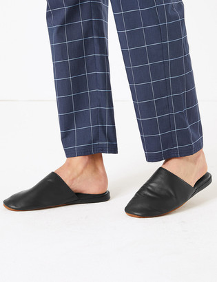 Marks and Spencer Leather Mule Slippers