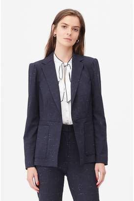 Rebecca Taylor Tailored Cross Hatch Suiting Jacket