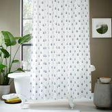west elm Anchor Shower Curtain - Midnight