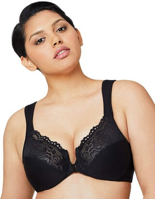 Glamorise Women's Plus-Size Elegance Front-Close Lace Underwire Bra